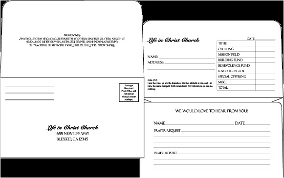 donor envelope template
