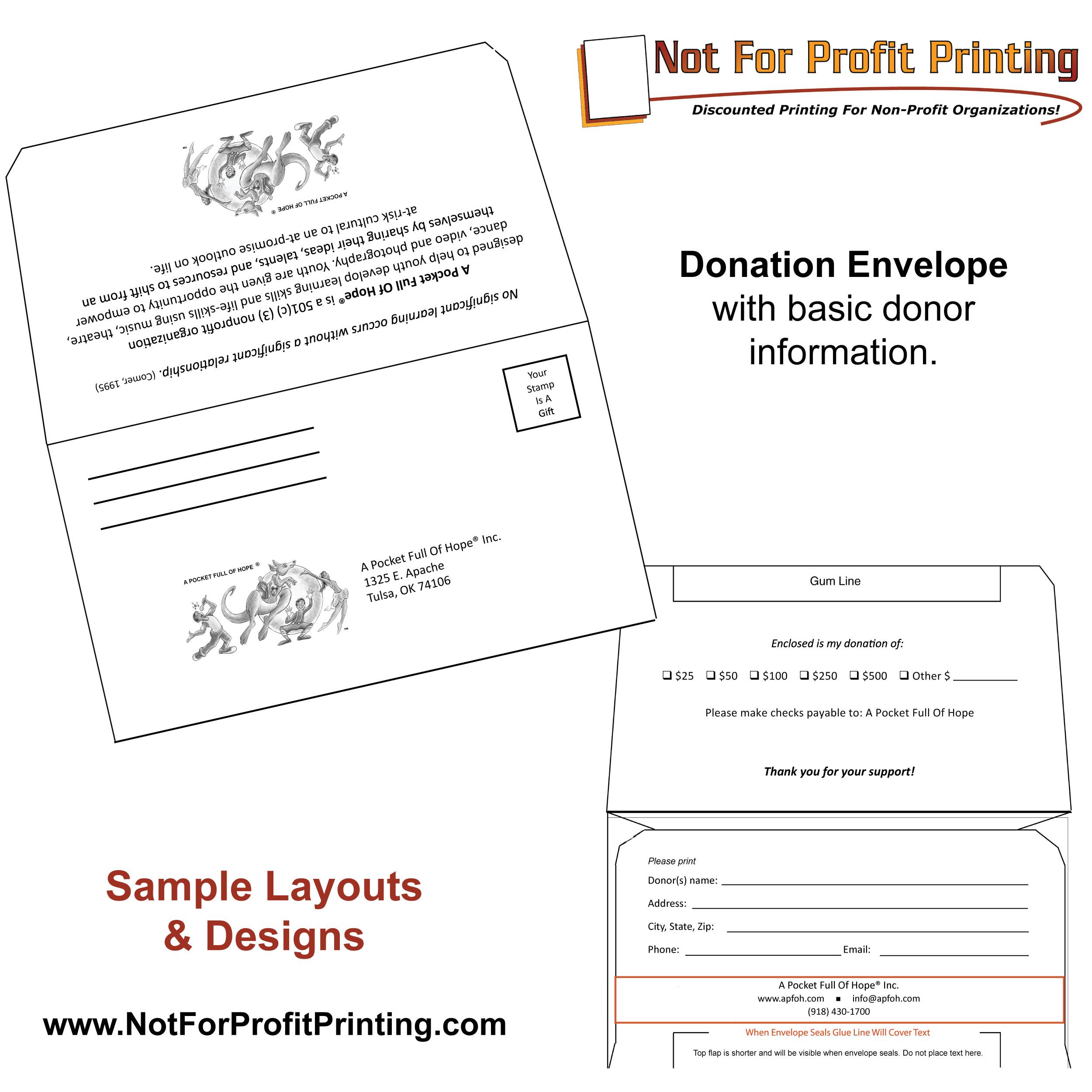 donation remittance envelope samples
