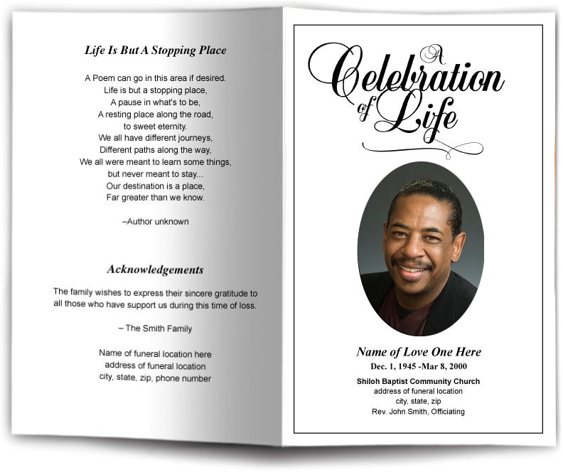 Funeral Handouts Template Funeral Program Obituary Templates Memorial Services