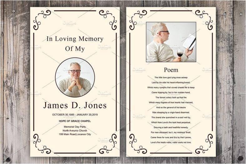 funeral memorial card designs templates psd ai indesign