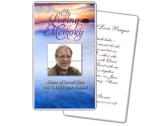Funeral Memory Cards Free Templates 8 Best Images Of Free Printable Funeral Cards Free