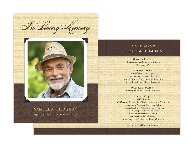 Funeral Memory Cards Free Templates Memorial Cards Memorial Programs and Memorial Bookmarks