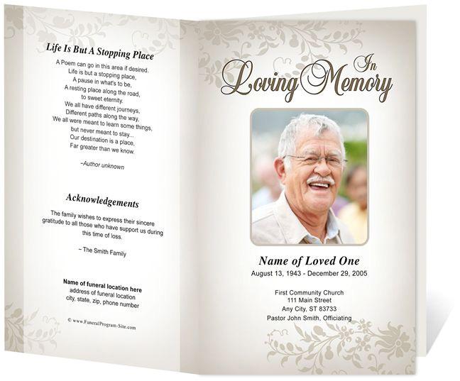 Funeral Program Templates Free Downloads 214 Best Creative Memorials with Funeral Program Templates