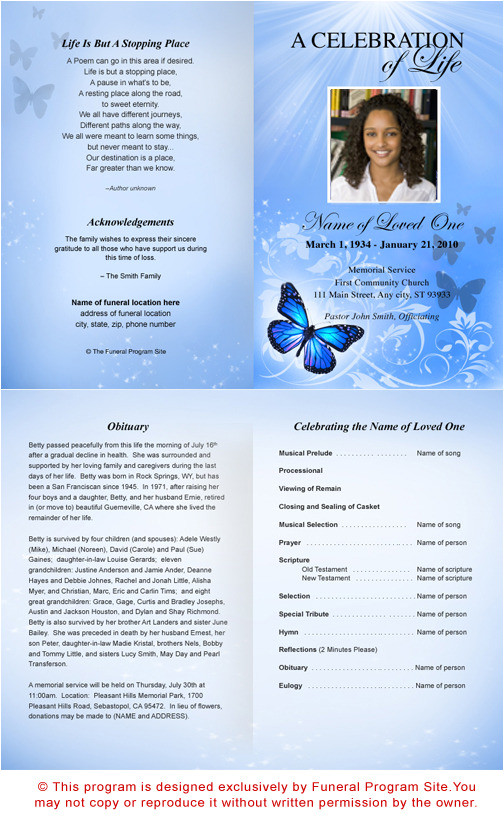 post printable funeral program templates 133133