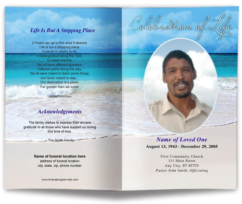 Funeral Program Templates Free Downloads Free Editable Funeral Program Template Template Business