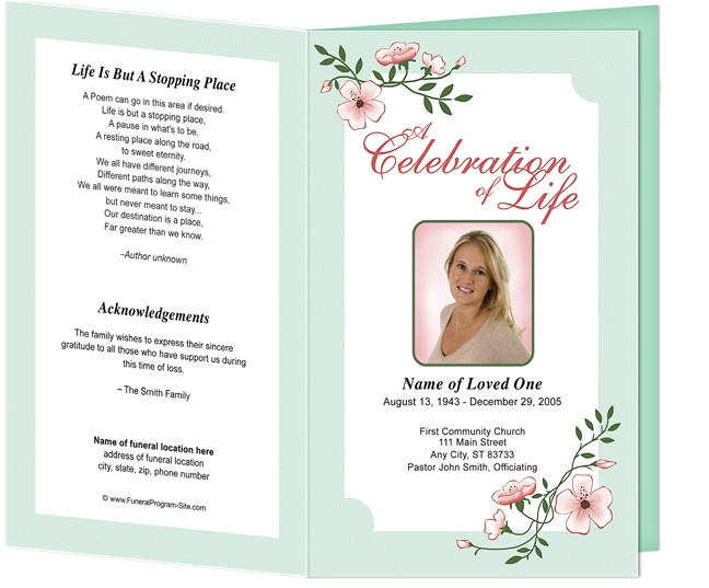 post free templates funeral program designs 208267
