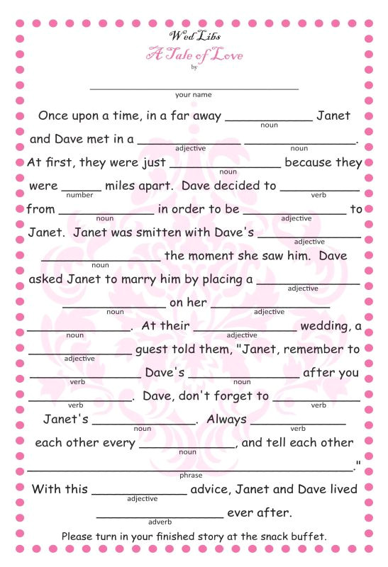 post blank printable wedding mad libs 289071
