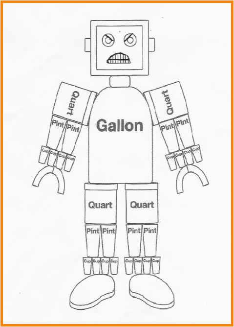 gallon man worksheets