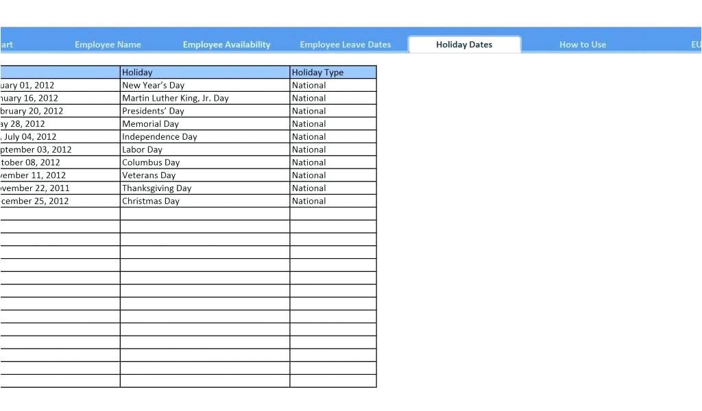 2012 gantt chart template