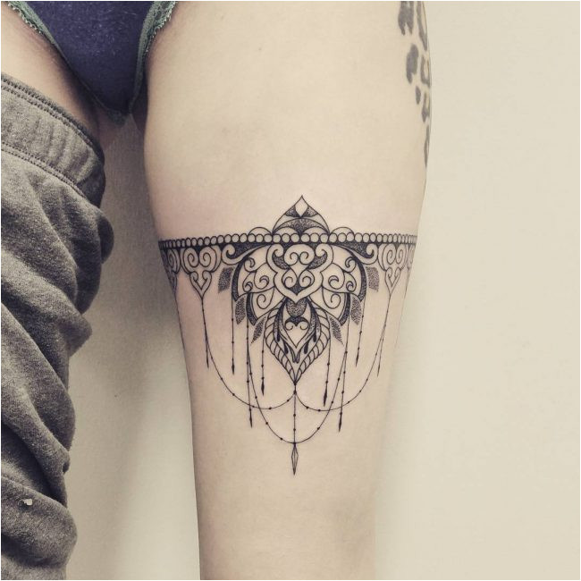 Garter Tattoo Templates 70 Charming Garter Tattoo Designs Keep In touch with
