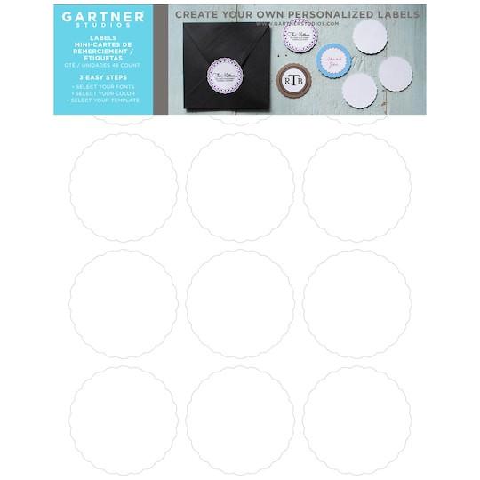 Gartner Labels Templates Gartner Studios Scallop Circle Favor Labels