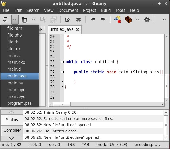 Geany Templates 6 Superb Reasons why You Should Use Linux for Programming