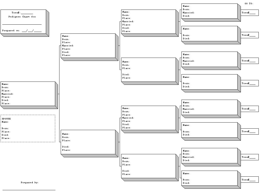 family tree forms blank