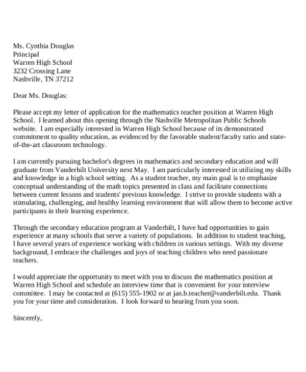 generic cover letters template