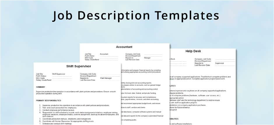 generic job description template