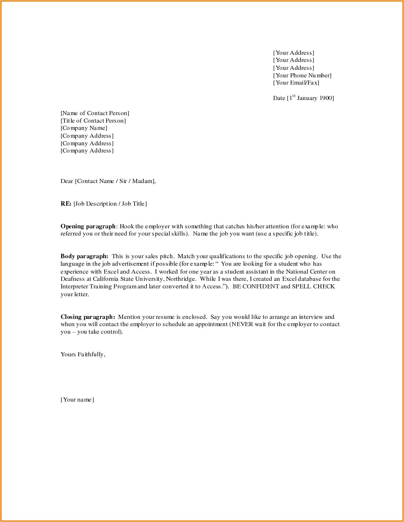 sales letter format