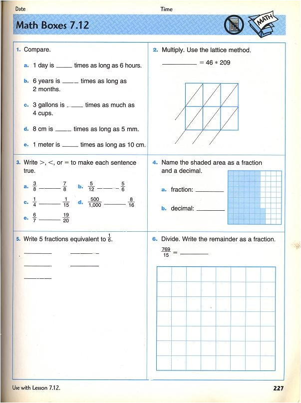 everyday math grade 5 worksheets