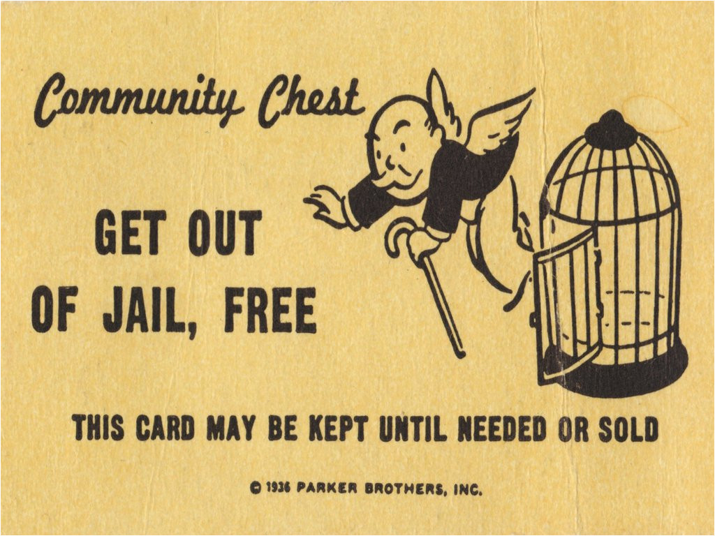 Get Out Of Jail Free Card Template New York Bans Monopoly From Prisons after Recent Escapes