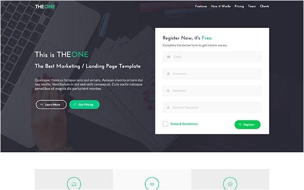 Getbootstrap Com Templates Best the E Landing Page Template Getbootstrap Com