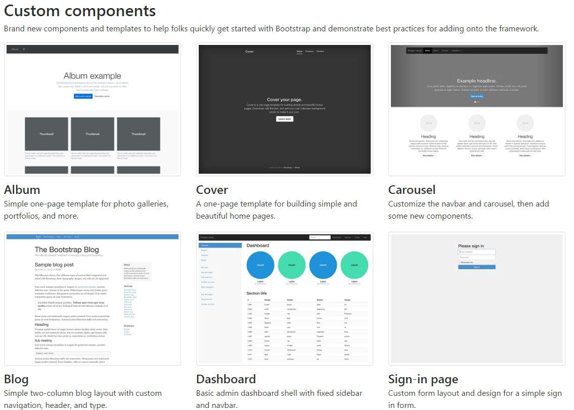 getbootstrap com templates