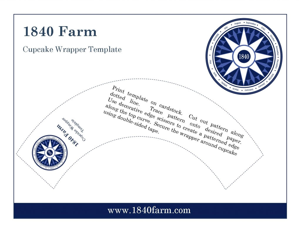 cupcake wrapper pdf template