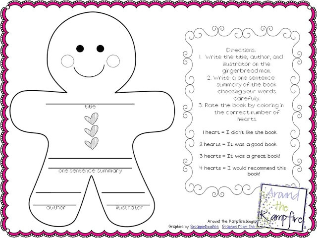 Gingerbread Man Story Map Template Printable Gingerbread Man Story Map Template Free