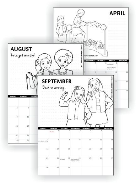 printable girl scout calendars