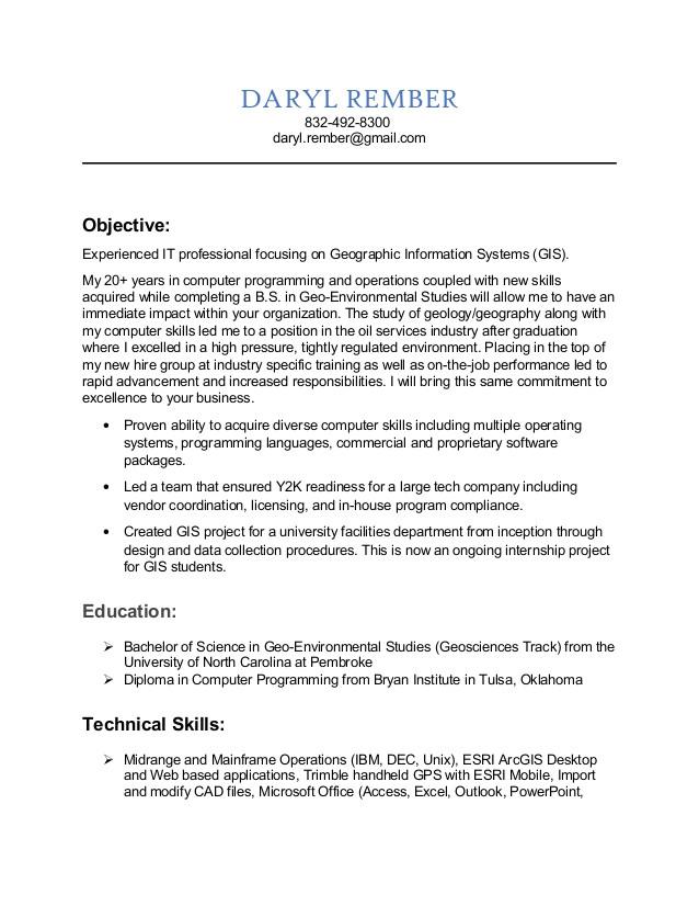 gis analyst resume 63226566