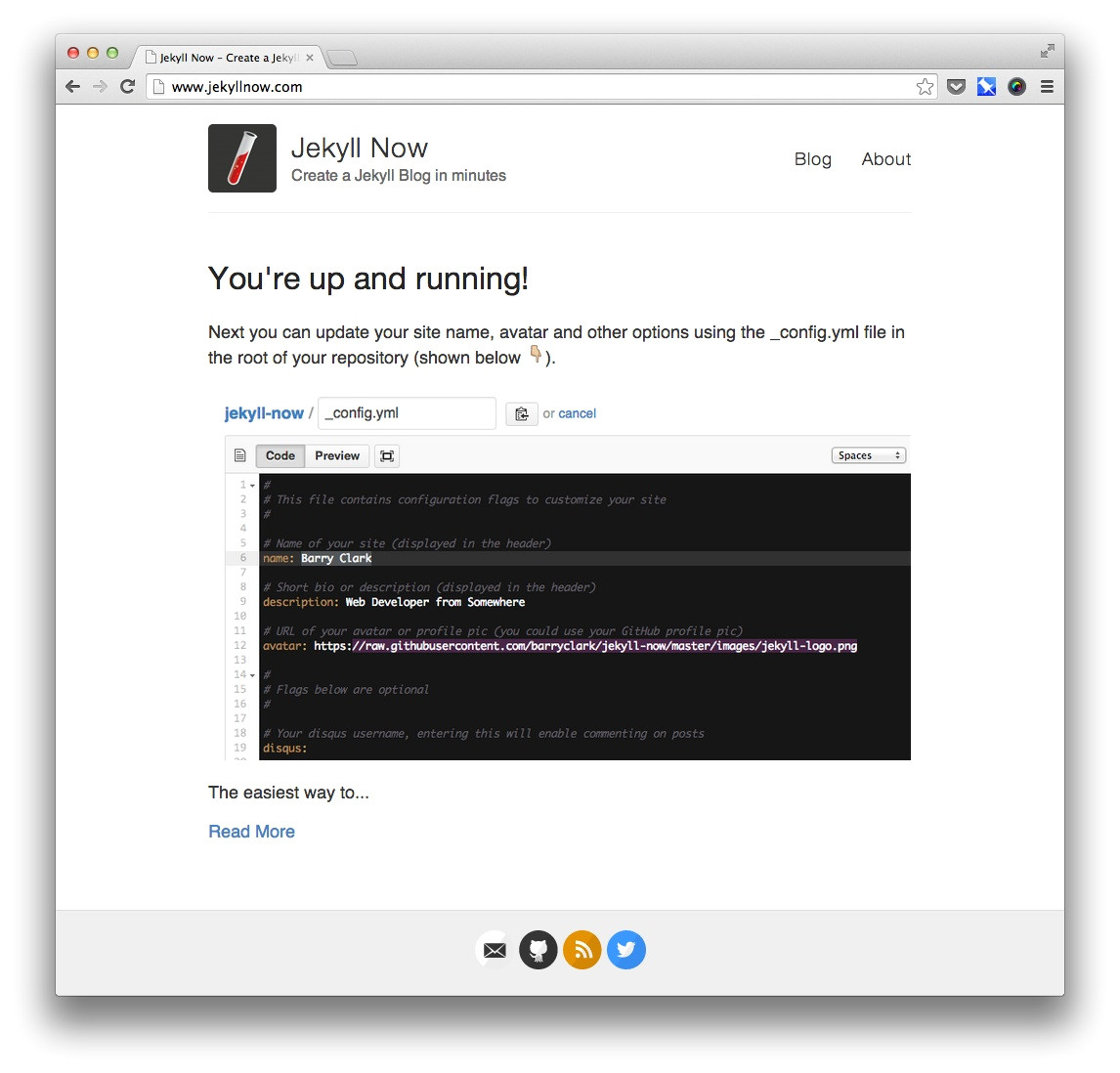 github pages templates