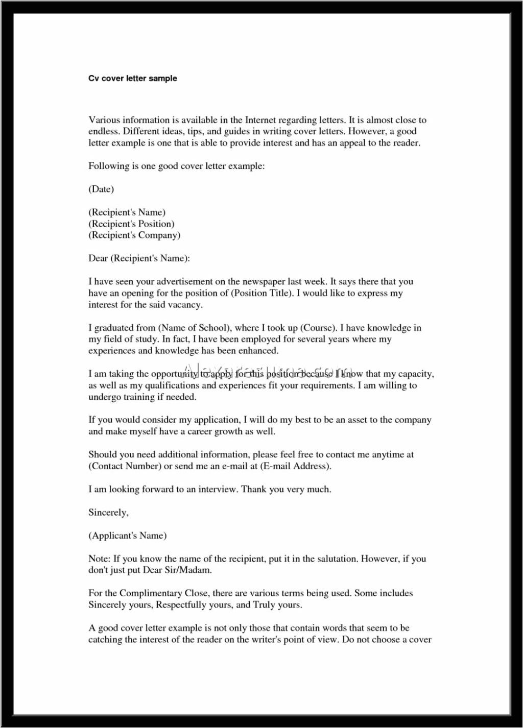 Good Cover Letters for Cv Best Good Cover Letter for Resume Letter format Writing