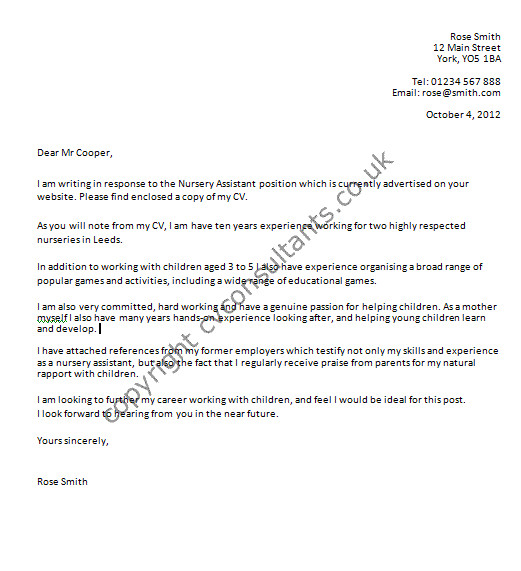 Good Examples Of Cover Letters Uk Cover Letter Example Good Covering Letter Example