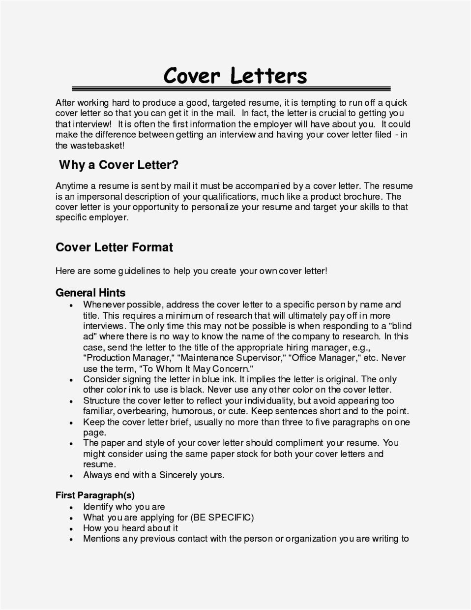 Good Opening Lines for Cover Letters Cover Letter Opening Sentence Resume Template Cover