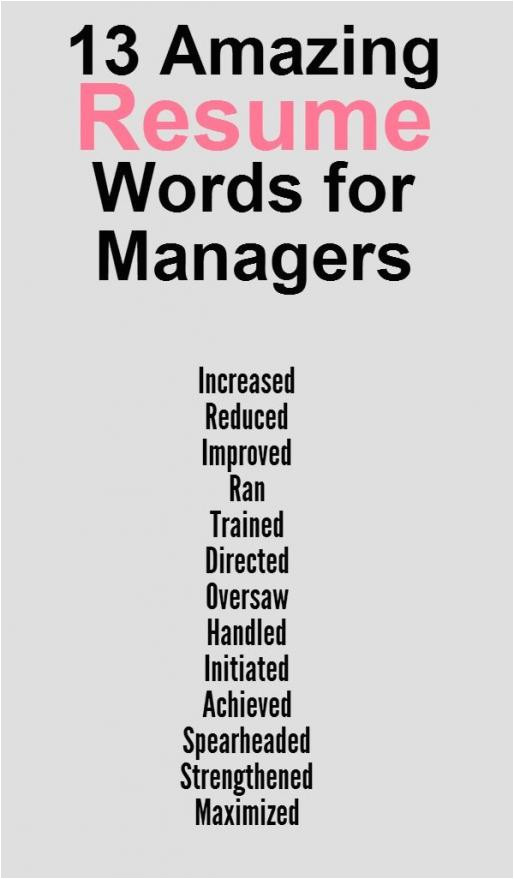 good words to use on a resume