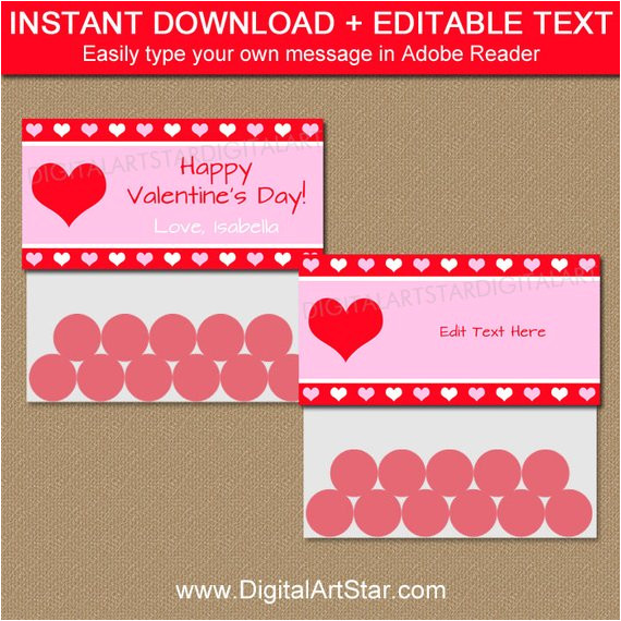 valentine bag toppers personalized printable diy