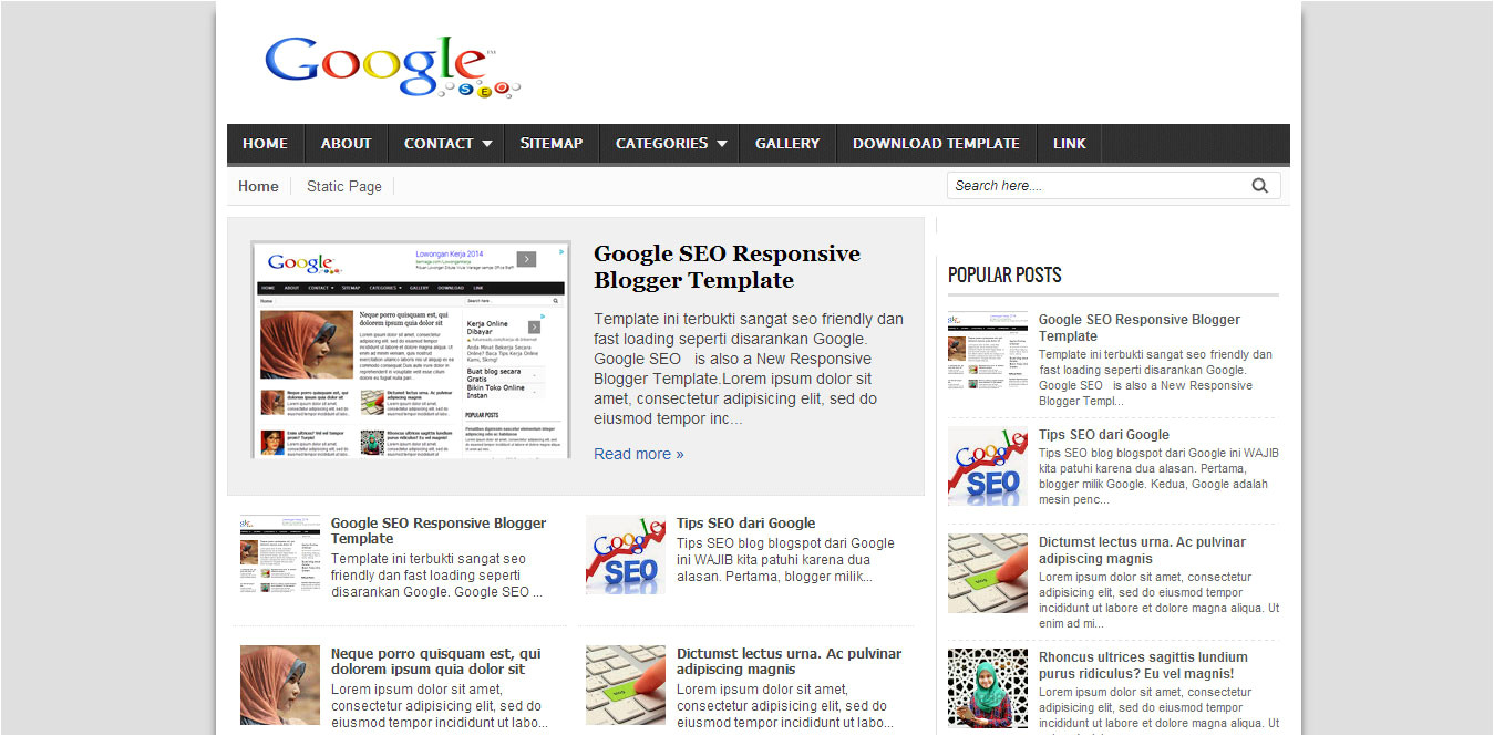 7 template seo friendly terbaik dan