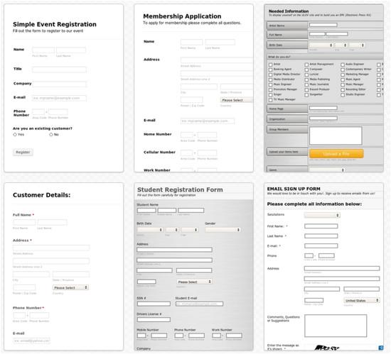 google docs form templates