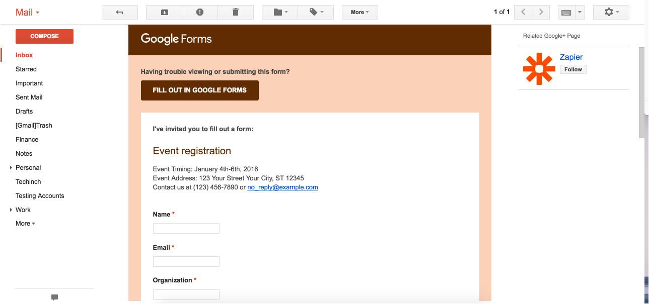 google docs forms template