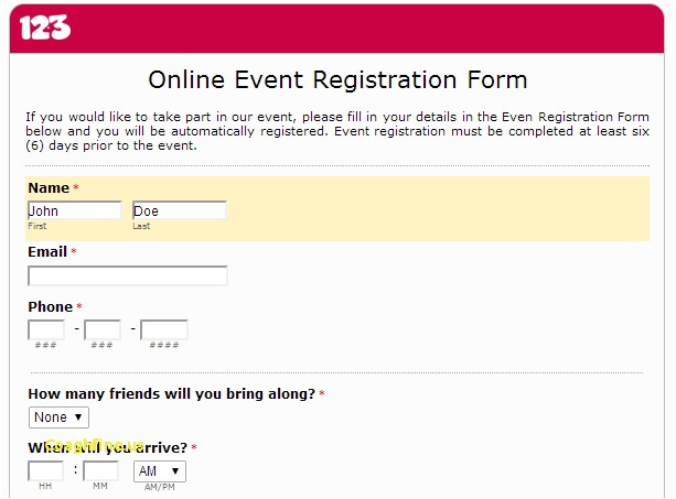 Google forms Templates Registration Google Docs Registration form Template Template Business