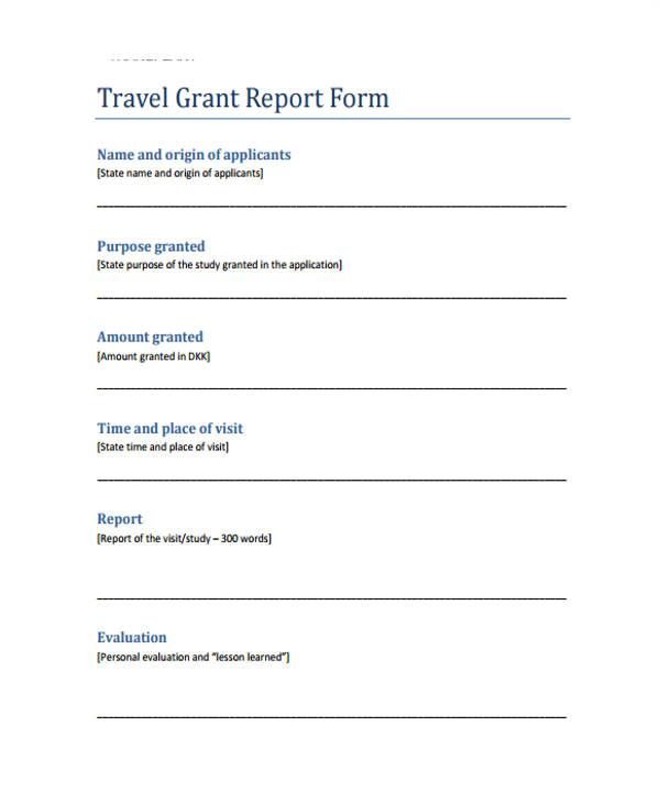 grant report template