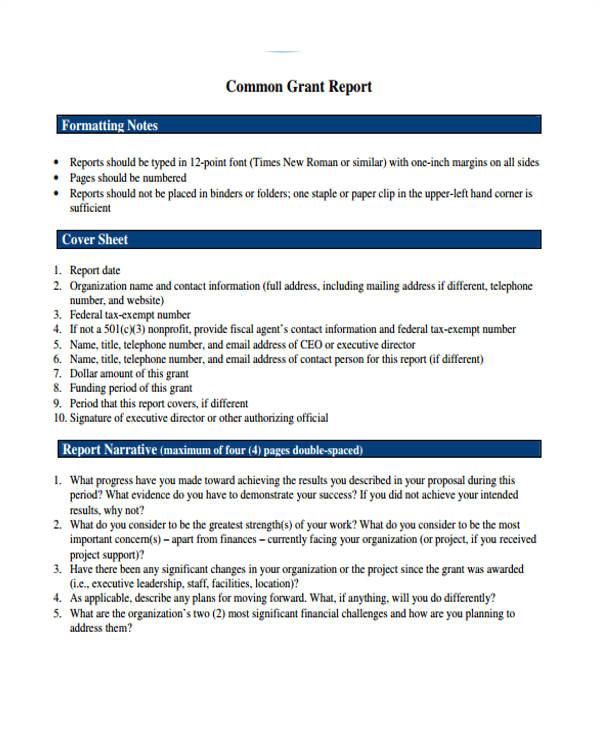 Grant Reporting Template 10 Grant Report Templates Free Premium Templates