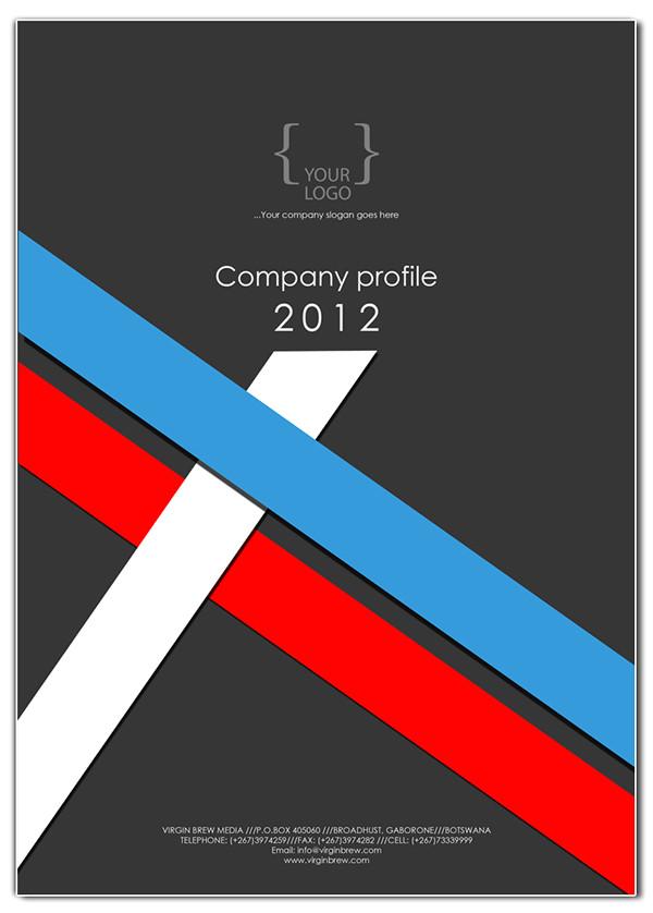 company profile cover design templates