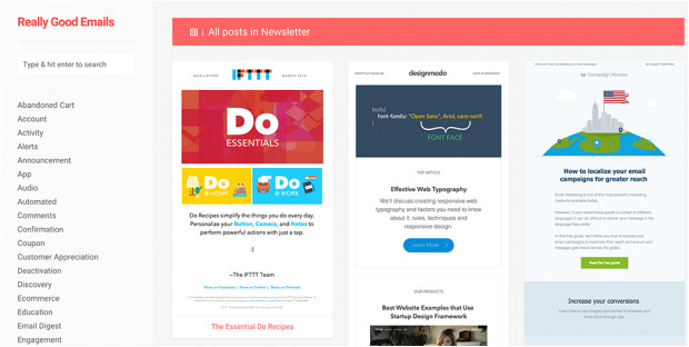 mailchimp inspiration email newsletters marketing