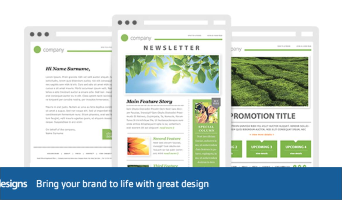 template newsletter html ho64