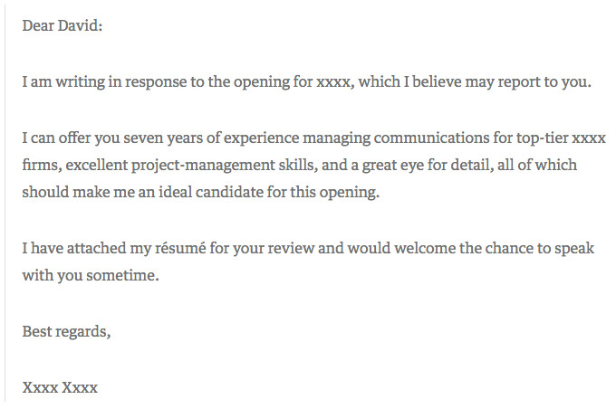 best cover letter examples