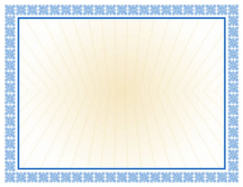 westminster blue parchment certificates 100 sheets 65745