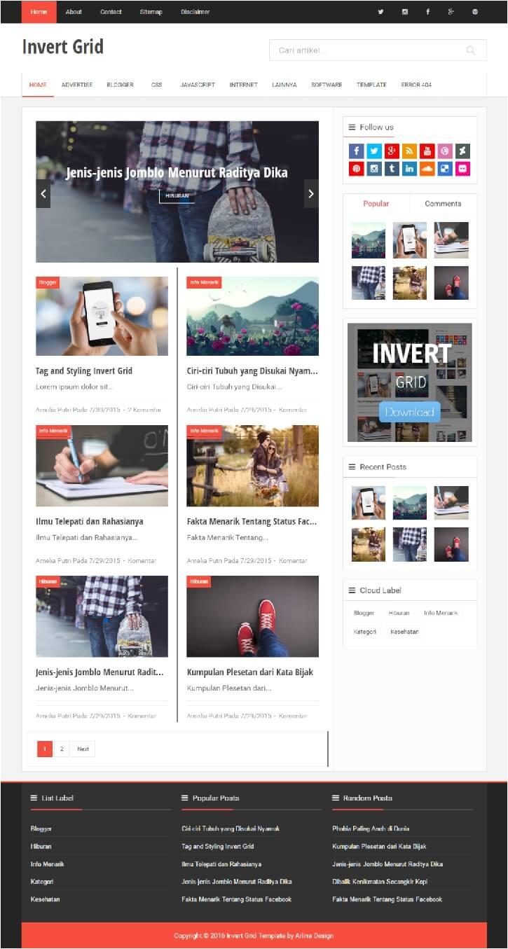 latest magazine style blogger templates