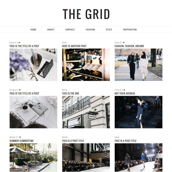 blogger template the grid