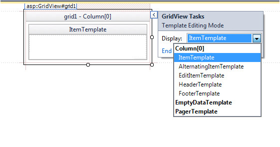templatefield in gridview control