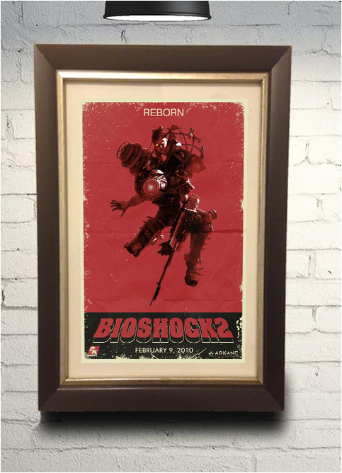 17574971 bioshock 2 big sister little sister grindhouse style retro art print 11x17