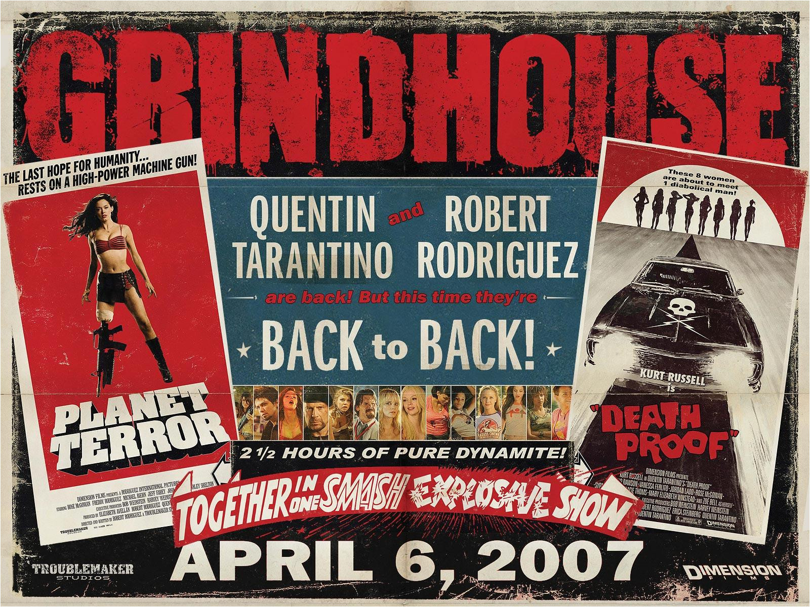 Grindhouse Poster Template Grindhouse Planet Terror Death Proof Movie Poster